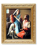 JESUS, MARY, AND MARTHA FRAMED ART